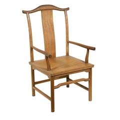 Vintage McGuire Chair in Ming Chinese Style, circa 1960