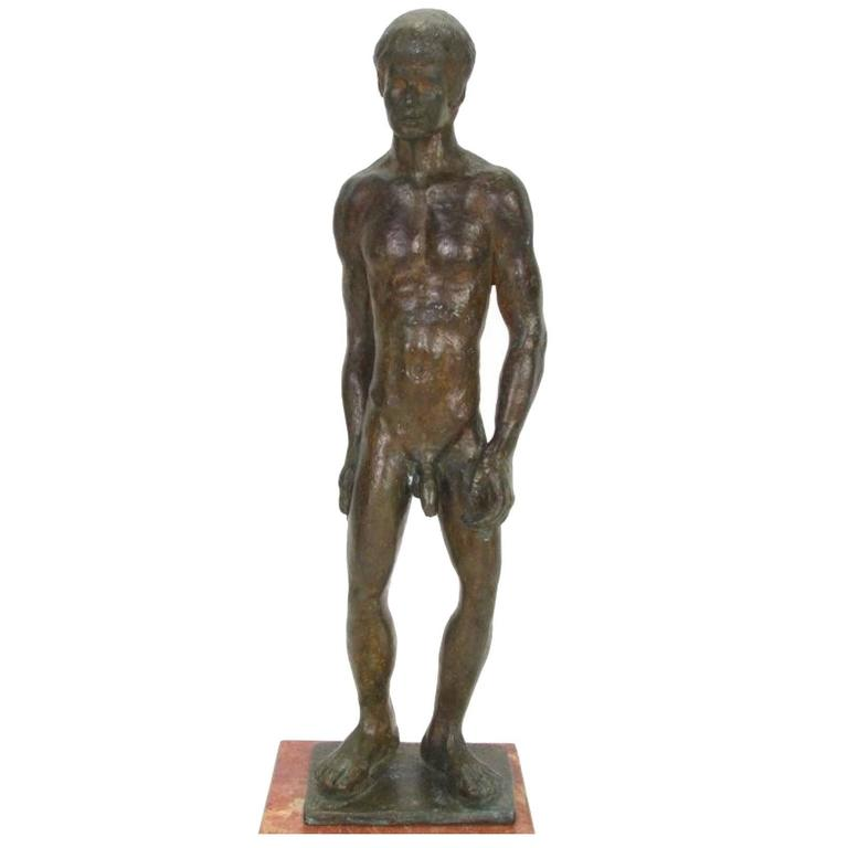 Bronze Sculpture of a Nude Male, 1974