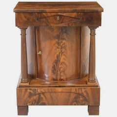 19th Century North German Biedermeier Small Cabinet in Mahogany, c. 1825