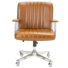 Swiveling Office Chair on Casters by Osvaldo Borsani for Tecno