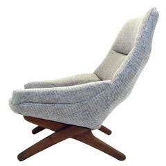 Danish ML 91 Lounge Chair by Illum Wikkelsø for Mikael Larsen