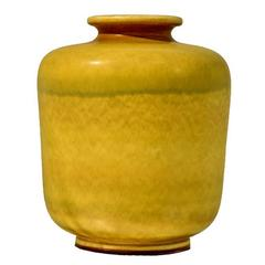 Large Yellow Stoneware Vase by Berndt Friberg for Gustavsberg