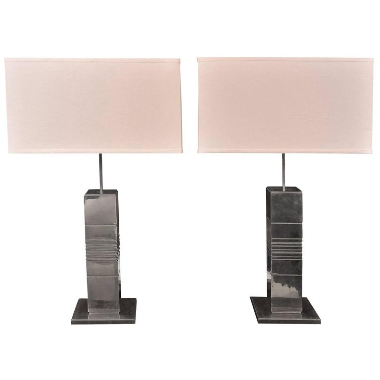 Silvered Bronze Lamps 1