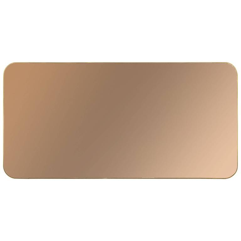 Thin Frame Brass Mirror 1