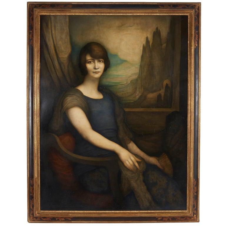 Modern Portrait of Woman with Landscape