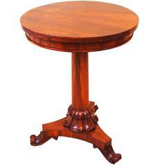 Antique William IV Rosewood Circular Lamp Table