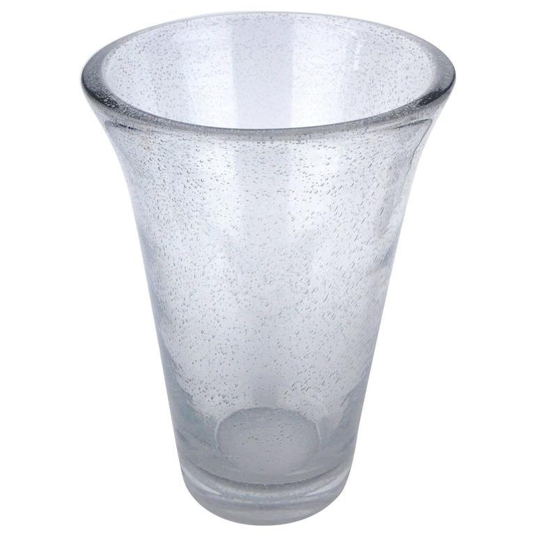 Very Large Daum Bubbled Glass Vase For Sale At 1stdibs