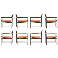 Set of Eight Edward Wormley Armchairs