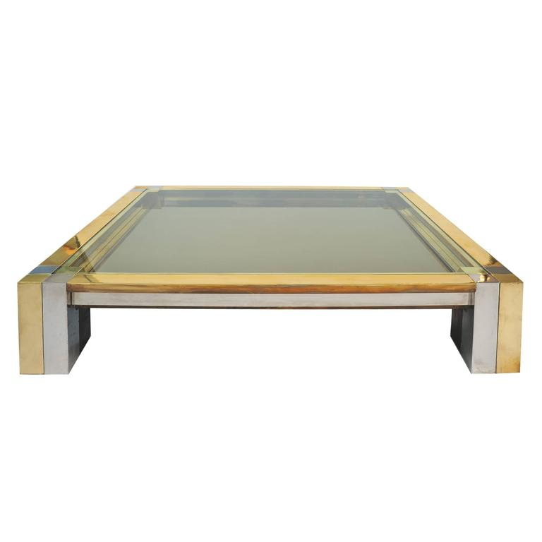 Impressive 1960s Square Coffee Table by Nucci Valsecchi 1