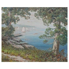 """Large Oil Painting """"Long Island Sound"""""""
