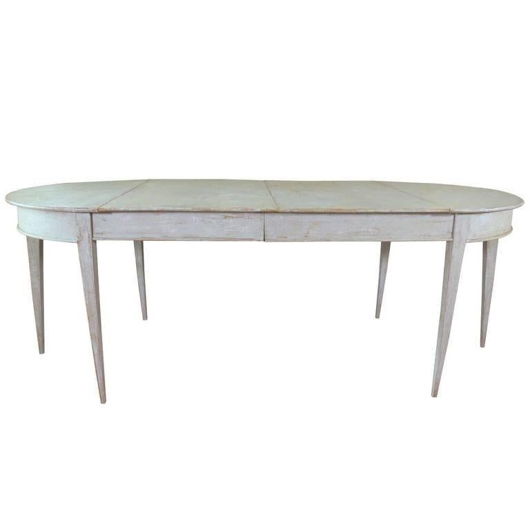 19th Century Swedish Gustavian Period Extension Dining Table For Sale
