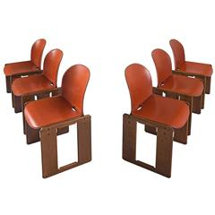 Dialogo Scarpa Chairs in Cognac Leather