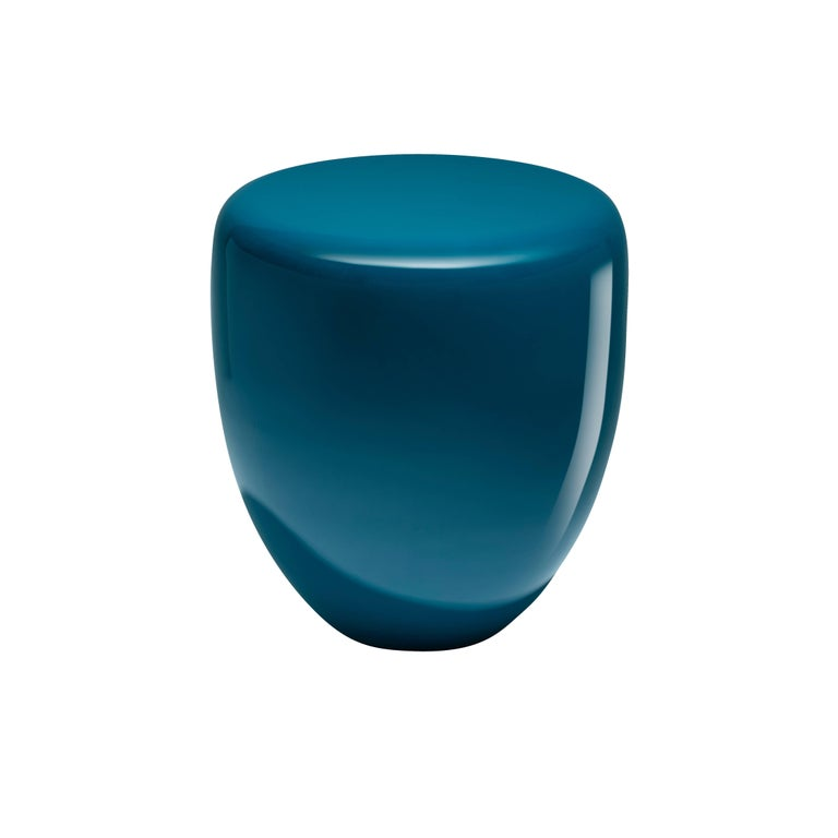 Dot, Side Table or Stool, Peacock Blue,  by Reda Amalou Design, 21st Century For Sale