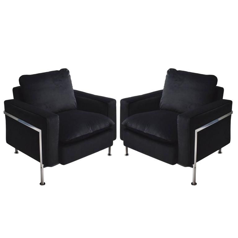 Pair of Lounge Chairs by Robert Haussman for Stendig, 1970s