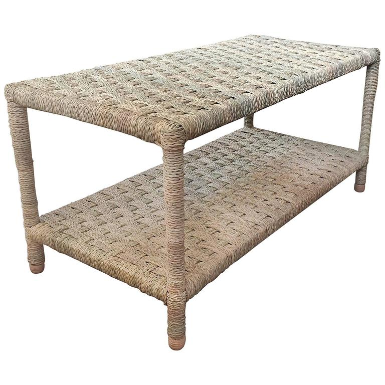 moroccan rope coffee table for sale at 1stdibs