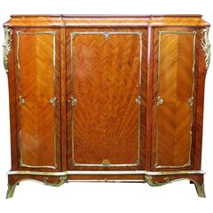 Rosewood Cabinet Attributed to Millet Sunbeam Veneer st LXV Bronze Accents