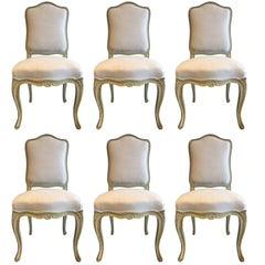 Set of Six 19th Century Louis XV Dining Chairs