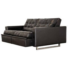 """Vintage de Sede DS 3A """"New Yorker"""" Two-Seat Reclining Sofa 1970s"""