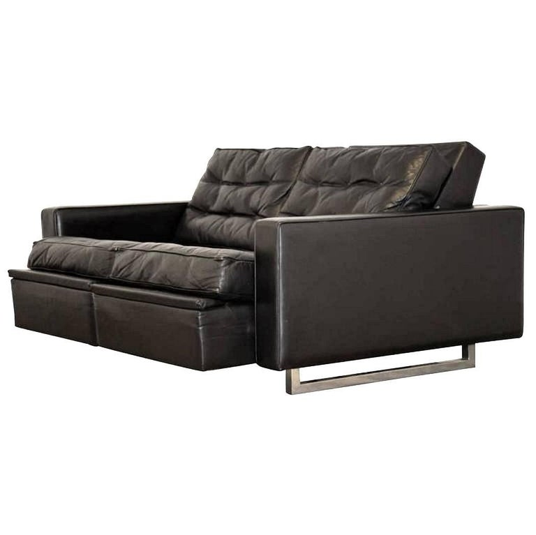 "Vintage de Sede DS 3A ""New Yorker"" Two-Seat Reclining Sofa 1970s For Sale"