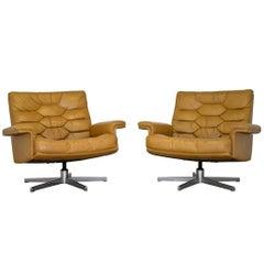 Vintage De Sede DS 35 Swivel Armchairs by Robert Haussmann, Switzerland 1970s
