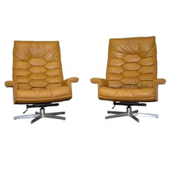 Vintage De Sede DS 35 Executive Swivel Armchairs by Robert Haussmann, 1970s