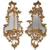 Pair of 18th Century Girandole Mirrors Attributed to Thomas Johnson