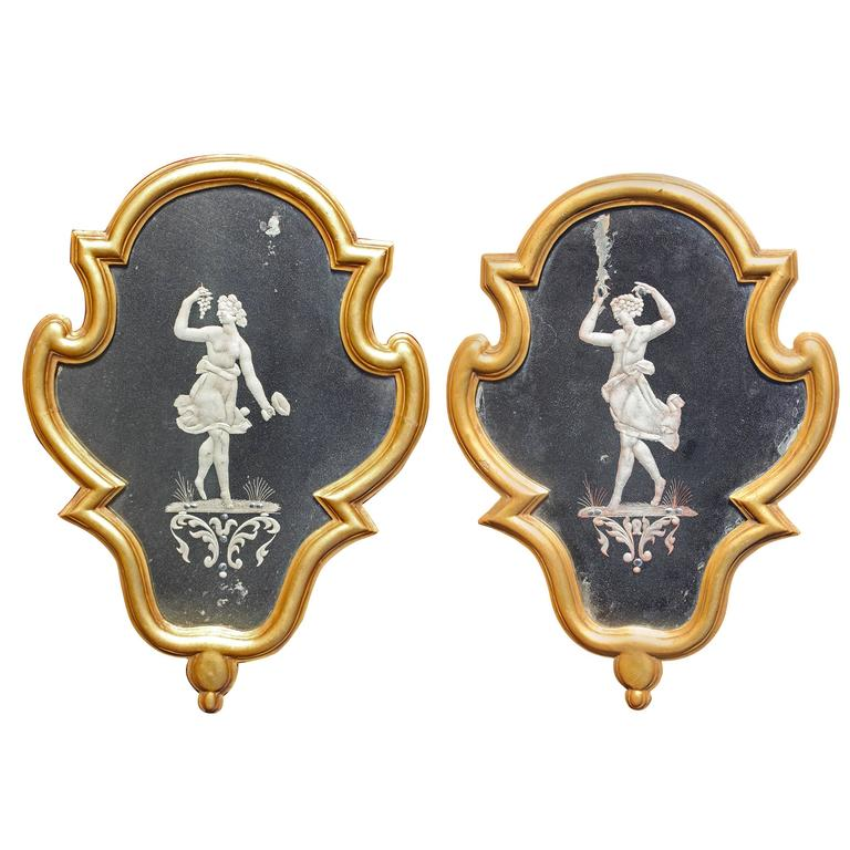 Pair 18th Century Venetian Mirrors