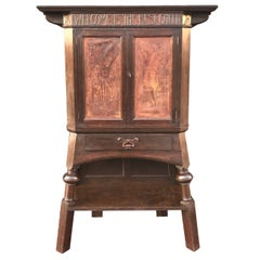 Liberty & Co Marked Great Arts & Crafts Cabinet Attributed to Leonard Wyburd