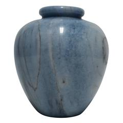Beautiful Italian Blue and White Marble Vase or Vessel, Italy