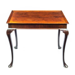 18th Century Red Walnut Tray Top Table
