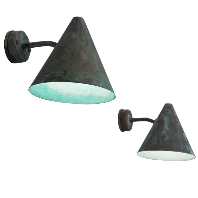 Hans-Agne Jakobsson Set of Two Copper Wall Lights