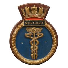 HMS Mercury Ship's Badge