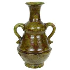 Moroccan Green Glazed Terracotta Jars