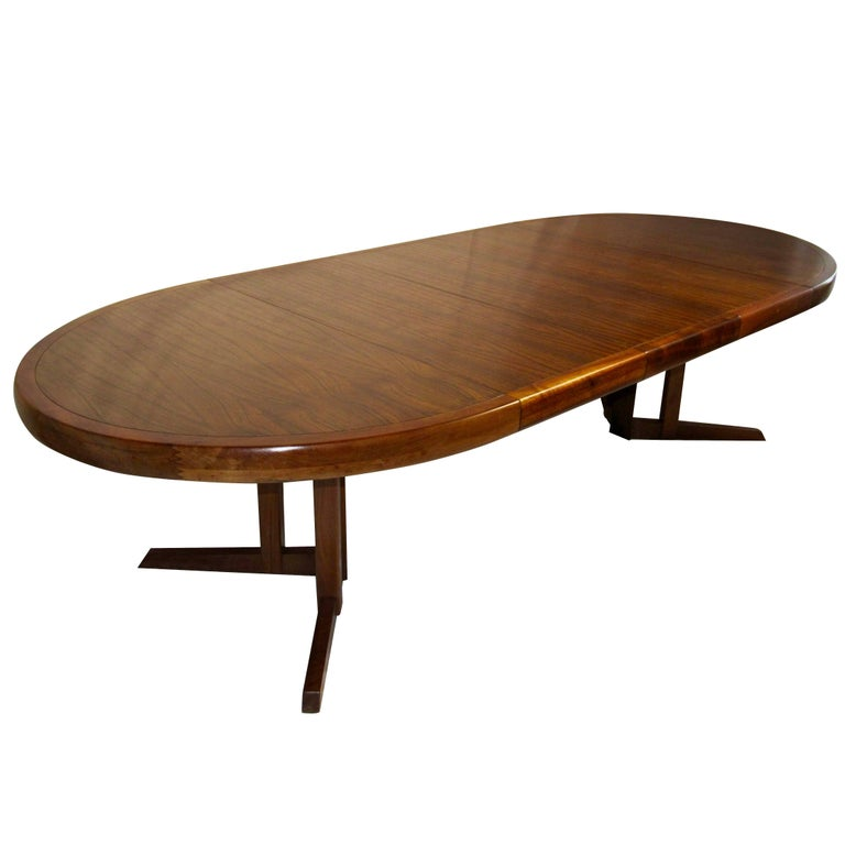 George Nakashima Extendable Walnut Dining Table Model 277 for Widdicomb, 1961 For Sale