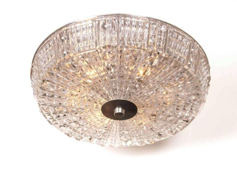 Carl Fagerlund for Orrefors Crystal Flush Mount 3