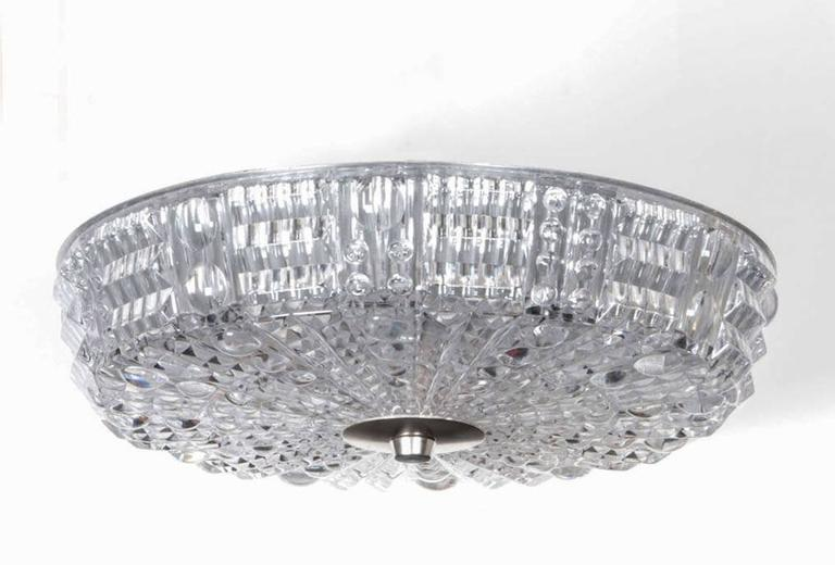 Carl Fagerlund for Orrefors Crystal Flush Mount 4
