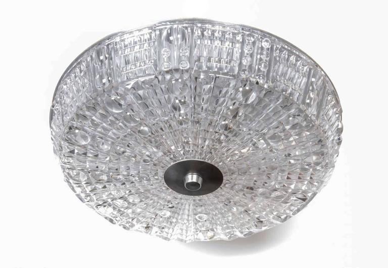 Carl Fagerlund for Orrefors Crystal Flush Mount 5