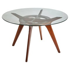 Adrian Pearsall Compass Walnut Dining Table for Craft Associates