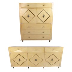 Pair of Hollywood Regency  Bedroom Dressers