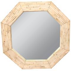 Octagonal Tessellated Bone Mirror