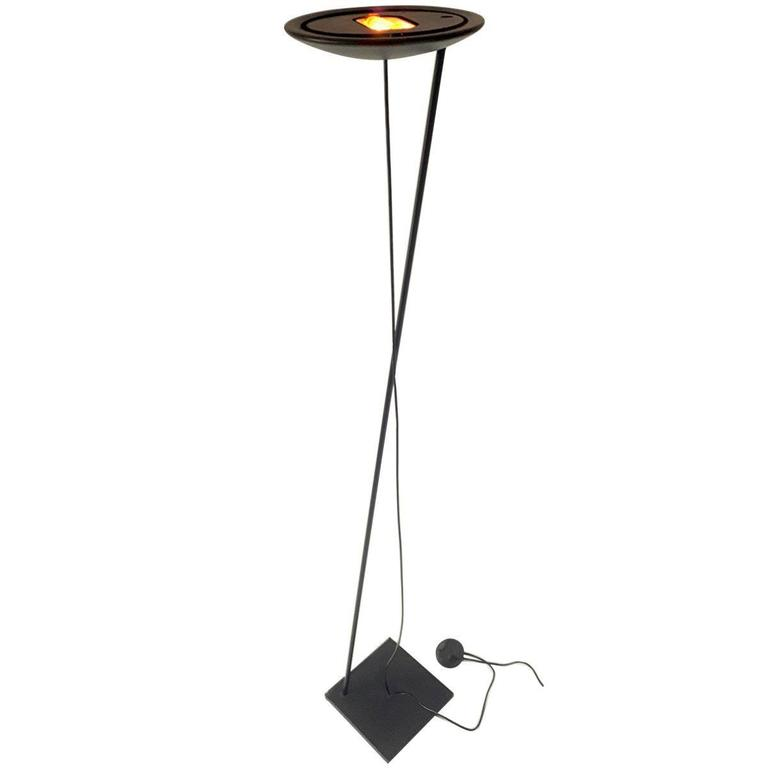 Tao modern halogen torchiere floor lamp from paf studio 1980 italy for