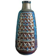 Large Mid-Century Danish Stoneware Vase by Einar Johansen for Soholm