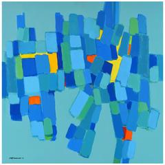 'The Jester' Vibrant Abstract Composition by Lars Hegelund