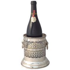 English Wine Bottle Holder or Coaster with Regency Lions