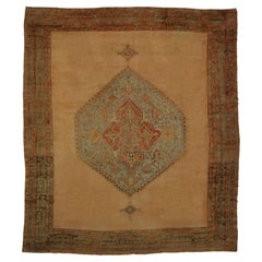 Antique Turkish Oushak Rug with Modern Design