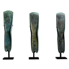 Three Ancient European Bronze Age Axes, 1400 BC