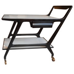 Black Lacquer Trolley by Ico Parisi