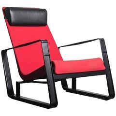 Jean Prouve Red Lounge Chair Model Cité