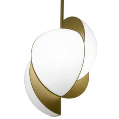 Lara Bohinc, Collision Ceiling Light, Gold Galvanic with White Acrylic