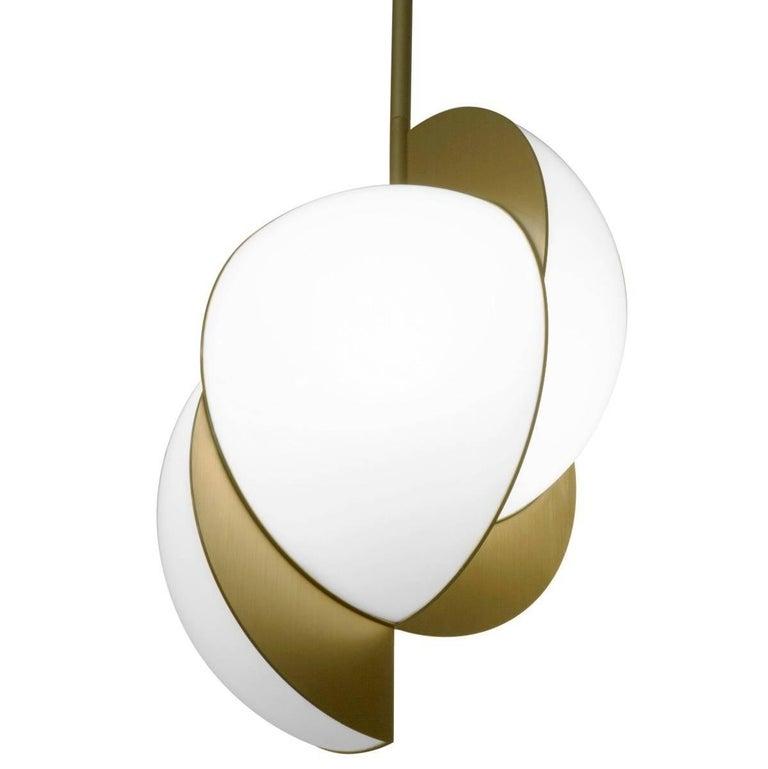 Lara Bohinc, Collision Ceiling Light, Gold Galvanic with White Acrylic